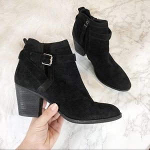 Sam Edelman Maurine Suede Buckle Ankle Booties